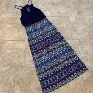 STITCH FIX Skies Are Blue Aztec Maxi Dress Size L